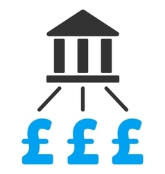 Bank pound payments flat icon symbol vector