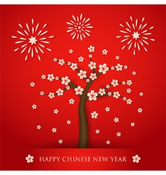 Chinese new year cerabration background vector image vector image