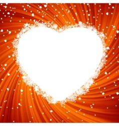 fire heart frame vector image vector image