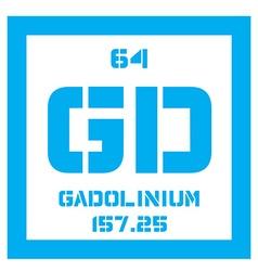 Gadolinium chemical element vector image vector image