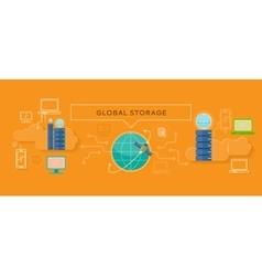 Global Storage Design Flat Concept vector image vector image
