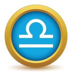 Gold Libra icon vector image vector image
