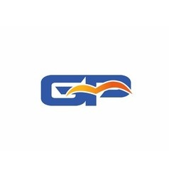 Gp letter logo vector