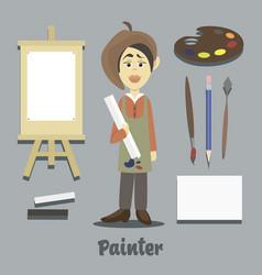 Hand drawn painter vector