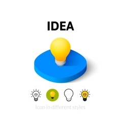 Idea icon in different style vector image