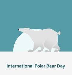 International polar bear day and white bear vector