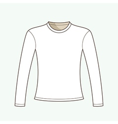 Long sleeved t-shirt vector