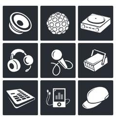 Nightclub icon set vector image