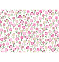 pink floral vector image vector image
