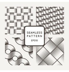Set of seamless patterns with intertwined vector image vector image