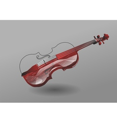 violin on gray background vector image