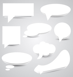White Paper Speech Bubbles vector image
