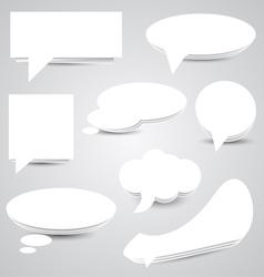 White Paper Speech Bubbles vector image vector image