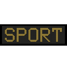 Yellow button board word sport vector