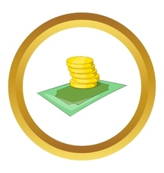 Coins icon vector