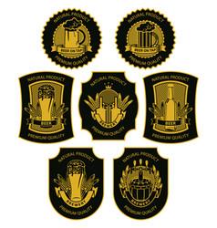 set beer labels signs symbols vector image