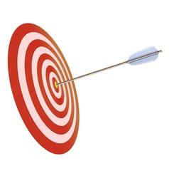 Arrow in to target vector image