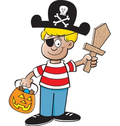 Cartoon pirate boy vector