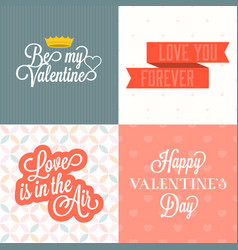 Happy valentine day with background vector