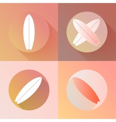 Surfboards icons set made in modern flat design vector