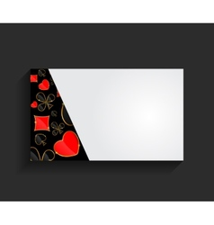 Template for Business Card vector image