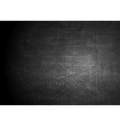 Dark technology grunge background vector image