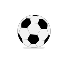 Football soccer ball isolated on white flat design vector