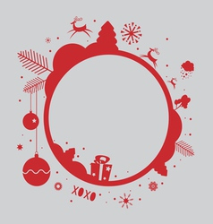 Christmas holiday frame design vector