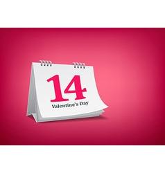 Calendar Valentine day vector image