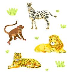 Safari animals set vector