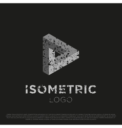 3d Isometric Logo vector image vector image