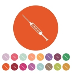 The syringe icon syringe symbol flat vector