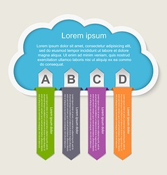 infographic Idea cloud concept vector image