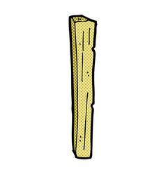 Comic cartoon wooden post vector
