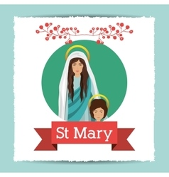 St mary the virgin design vector