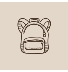 Backpack sketch icon vector