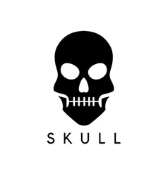 Abstract icon design template of skull vector