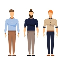 Men in office clothes casual outfit business vector