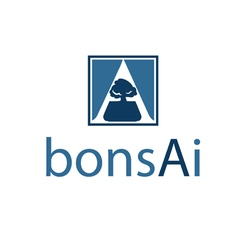 Abstract icon bonsai in negative space in letter a vector