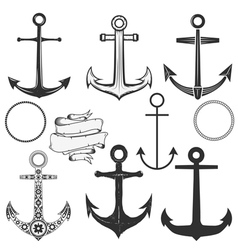 anchor label vector image