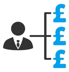 Banker pound payments flat icon symbol vector
