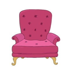 Beautiful vintage chair vector