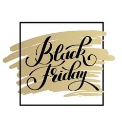 Black friday design on gold sale discount vector