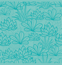 Blue seamless repeat pattern with growing vector