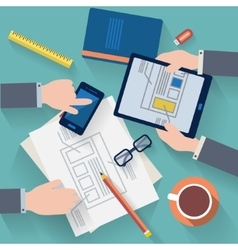 Business workplace vector image