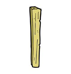 Comic cartoon wooden post vector