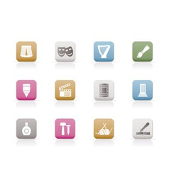 different kind of art icons vector image vector image