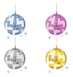 Disco ball sest vector image vector image