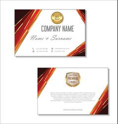 elegant business card design template 06 vector image