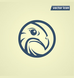 falcon in circle vector image